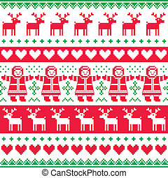 Winter, Christmas pattern - Christmas vectro background -...