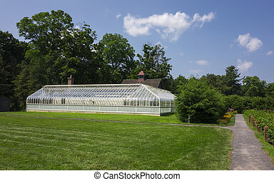 Garden Greenhouse - The greenhouse on the grounds of the...