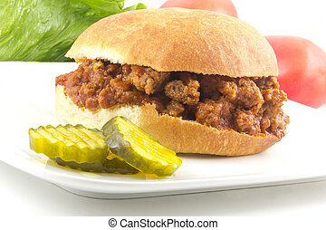 Sloppy Joe - Hearty homemade sloppy joe recipe, messy but...