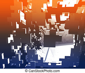 Abstract explosion illustration - Abstract background...