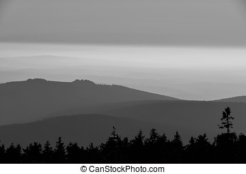 the Harz National Park - view from the summit of the Brocken...