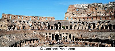 Colosseum was built in the first century in Rome city. -...