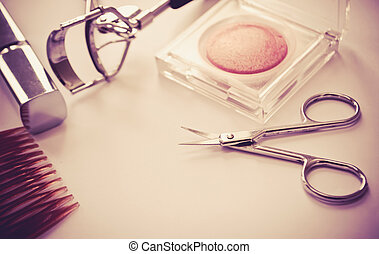 Cosmetics - Women makeup and cosmetics with two tone color