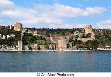 Old fortress in Istanbul city