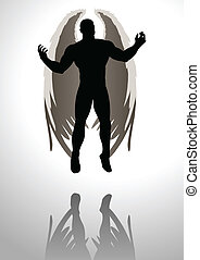 Angel - Silhouette illustration of an angel figure