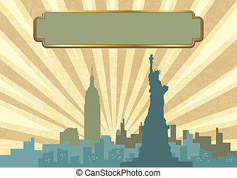 New York Skyline - An illustration of New York City skyline...
