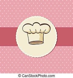 Chef Hat - Symbol of chef hat for menu or card design