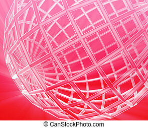 Globe wireframe abstract - Abstract globe grid wireframe...
