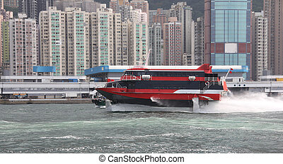 The passenger ship in Hong Kong