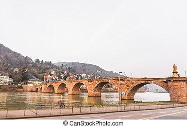 The old bridge cross River Neckar in Heidelberg, Germany