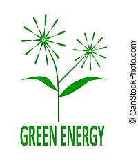 Green energy logo - vector illustration.