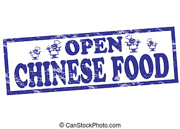 Chinese food - Rubber stamp with text Chinese food inside,...