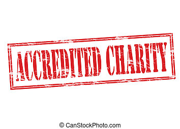 Accredited charity - Rubber stamp with text accredited...