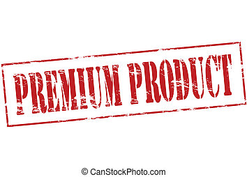 Premium product - Rubber stamp with text premium product...