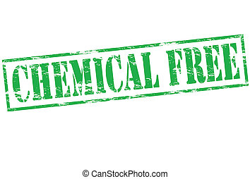 Chemical free - Rubber stamp with text chemical free inside,...