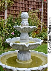 Home garden fountain - Summer time home garden fountain