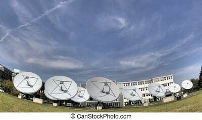 Time lapse satellite dishes - Time lapse of big...