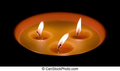 Three Candles in the dark
