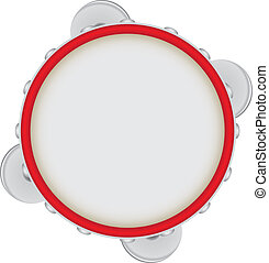 Tambourine - a musical instrument of the drums class Vector...