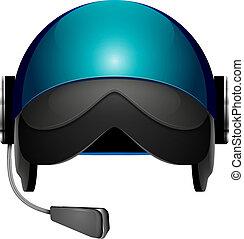 pilot helmet - Helmet pilot abstract vector illustration...