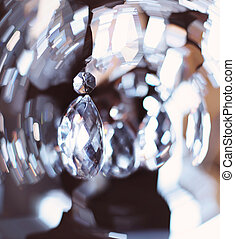 Chrystal chandelier close-up Glamour abstract background...
