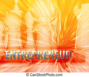 Business strategy illustration - Abstract entrepreneur...