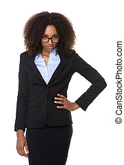 Young business woman with glasses - Portrait of a young...
