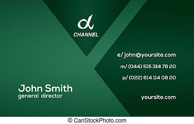 Stylish corporate business card - This business card looks...