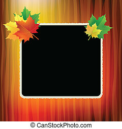 School board. - School board with maple leaves in the...