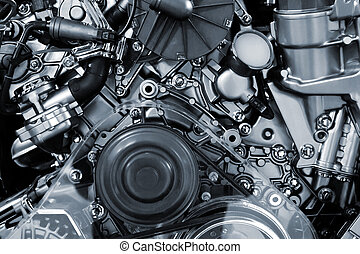 Car engine background - Metalic background of the internal...