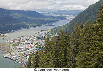 Juneau viewed from Mount Roberts - Juneau, southeastern...