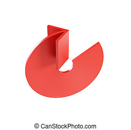 bended red arrow