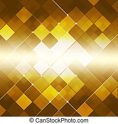 Abstract Square Dot Golden Background - abstract glowing...