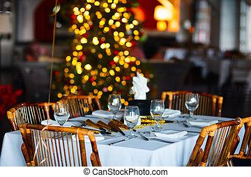 Table setting for Christmas party - Beautiful table setting...