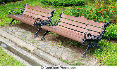 bench in the parkark - bench in the park