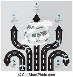 Travel And Journey Runway Business Infographic Design...