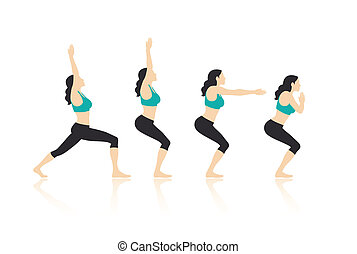 Yoga Poses Vector and Illustration