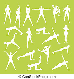 Woman Fitness Vector and Illustration