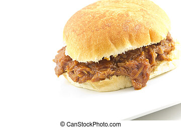 Pulled Pork Sloppy Joe - Pulled pork sloppy joe, a not so...