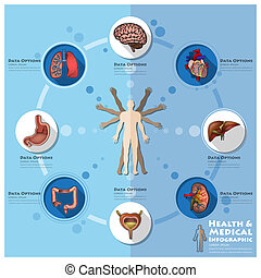 Health And Medical Infographic Infocharts Science Background...