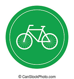 Bicycle icon - bicycle design over beige background vector...