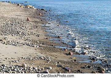 Baltic sea beach - Blue water and pepples and the baltic sea...