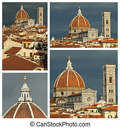 cathedral of Florence collage, Italy