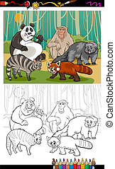 funny animals cartoon coloring book - Coloring Book or Page...