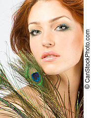 Close-up beauty face - Close-up beautiful women with perfect...