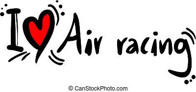 Air racing love - Creative design of air racing love