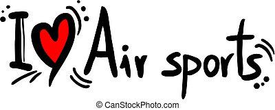 Air sport love - Creative design of air sport love