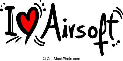 Airsoft love - Creative design of airsoft love