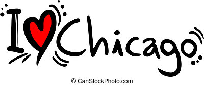 Chicago love - creative design of chicago love