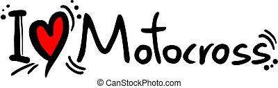 Motocross love - Creative design of motocross love